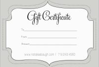 New Photography Gift Certificate Template Free  Best Of Template inside Free Photography Gift Certificate Template