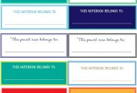 New Project Back To School Notebook And Book Labels within Book Label Template Free