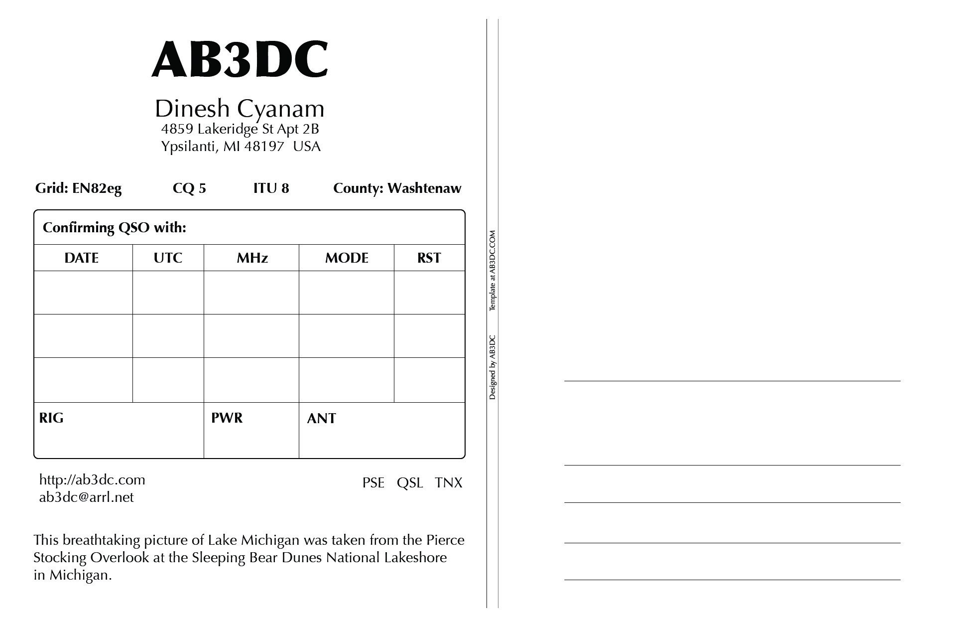 New Qsl Cards Design – Abdc's Ham Radio Blog Within Qsl Card Template
