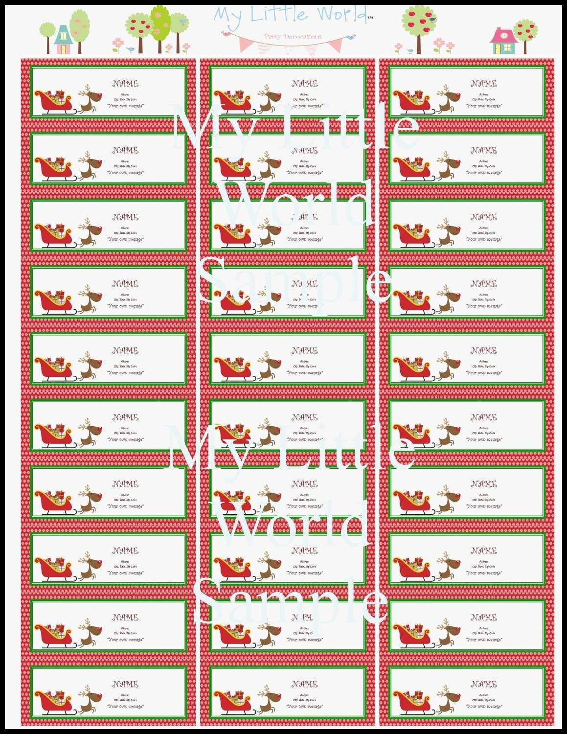 New Release Models Of Free Christmas Label Templates In Xmas Labels Templates Free