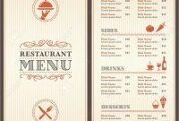 New S Diner Menu Templates Free Download  Best Of Template with regard to 50S Diner Menu Template