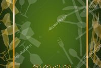 New Year Eve Dinner Template Poster Cover Menu Vector — Stock with New Years Eve Menu Template