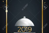 New Year's Eve Dinner Template For Poster Cover And Menu with regard to New Years Eve Menu Template