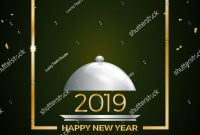New Years Eve Dinner Template Stock Vector Royalty Free intended for New Years Eve Menu Template