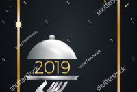 New Years Eve Dinner Template Stock Vector Royalty Free within New Years Eve Menu Template