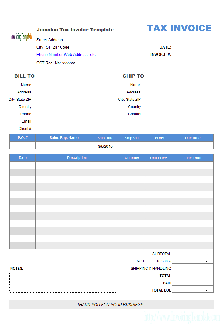 New Zealand Tax Invoice Template Pertaining To Invoice Template New Zealand