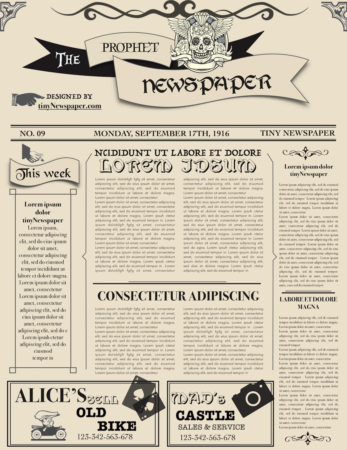 Newspaper Layout Newspaper Format Newspaper Generator Free Newspaper With Blank Old Newspaper Template