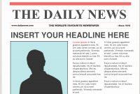 Newspaper Template For Ppt  Wesleykimlerstudio in Newspaper Template For Powerpoint