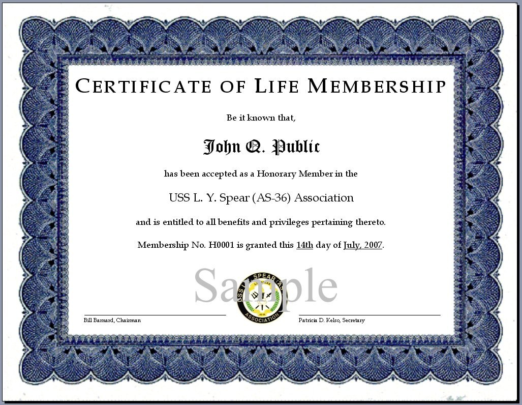 Nice Membership Certificate Template Pictures  Membership Intended For Life Membership Certificate Templates