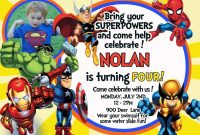Nice Tips For Choosing Avengers Birthday Invitations Free intended for Avengers Birthday Card Template