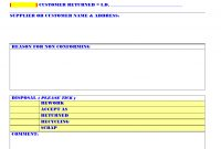 Non Conforming Material Form regarding Non Conformance Report Form Template