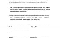 Non Disclosure Agreement Template Confidentiality Agreement for Therapy Confidentiality Agreement Template