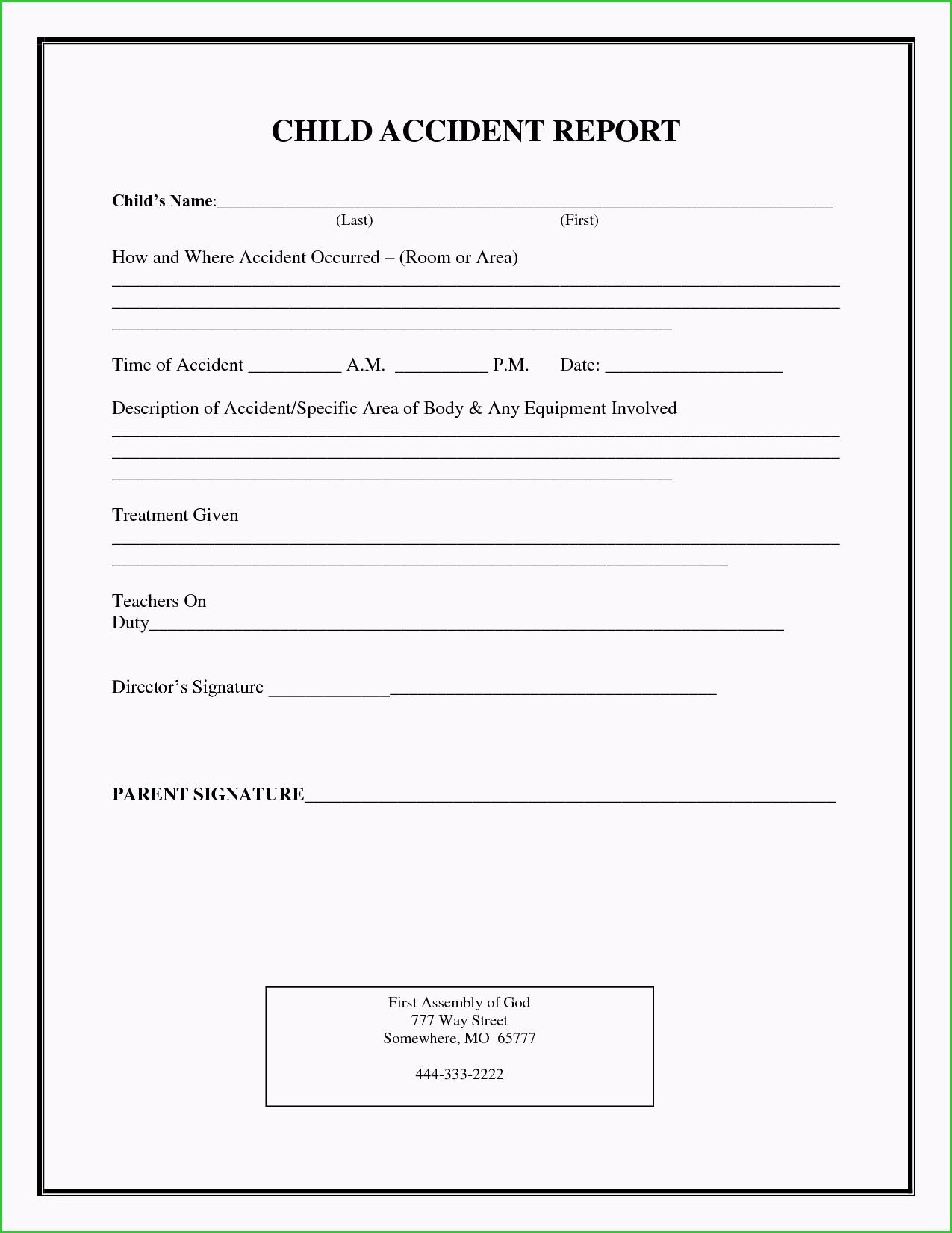 Non Injury Incident Report Template Needful Ideas Incident Report Regarding Injury Report Form Template