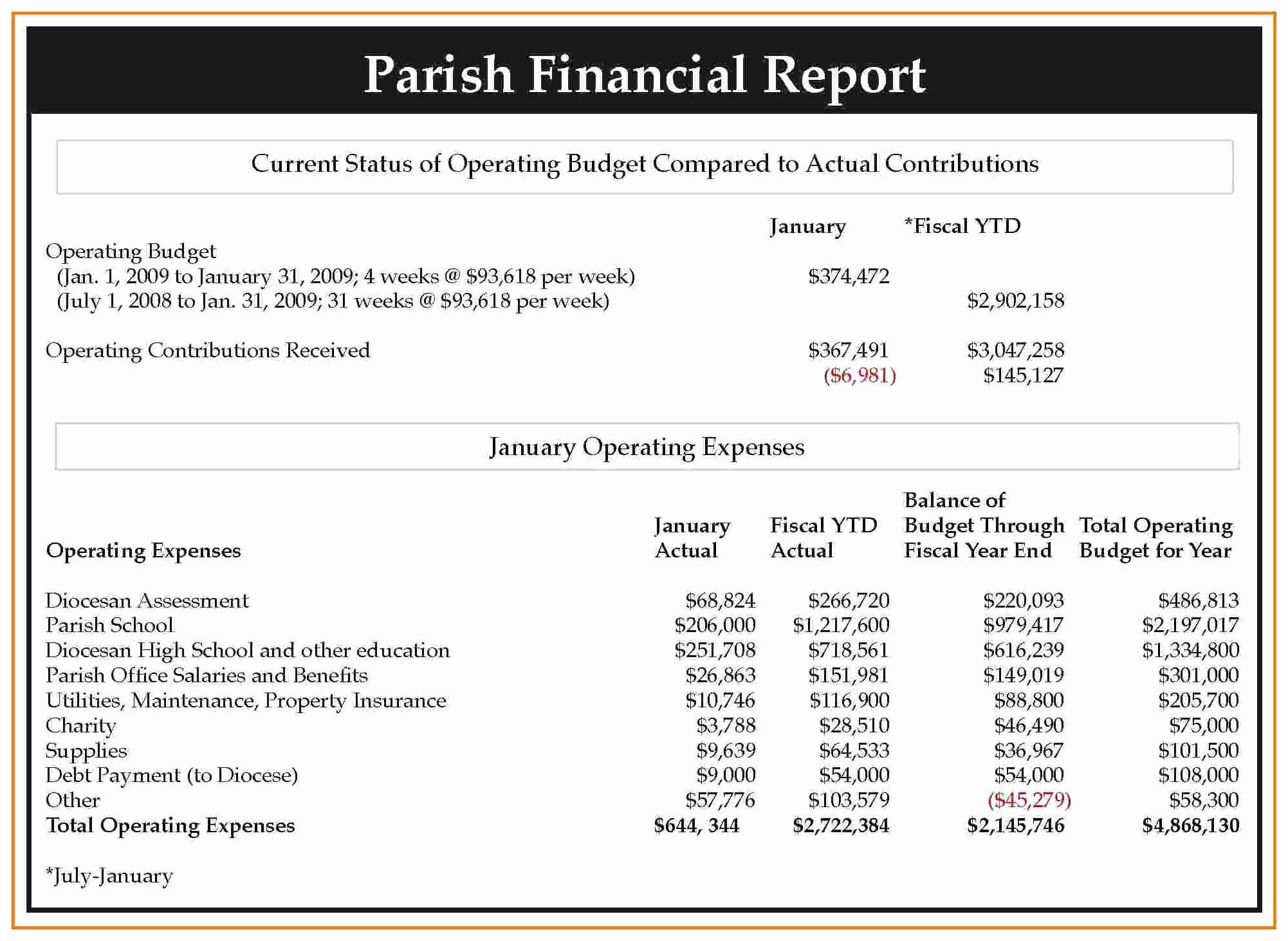 Non Profit Financial Statement Template Excel Then Monthly Financial With Non Profit Monthly Financial Report Template
