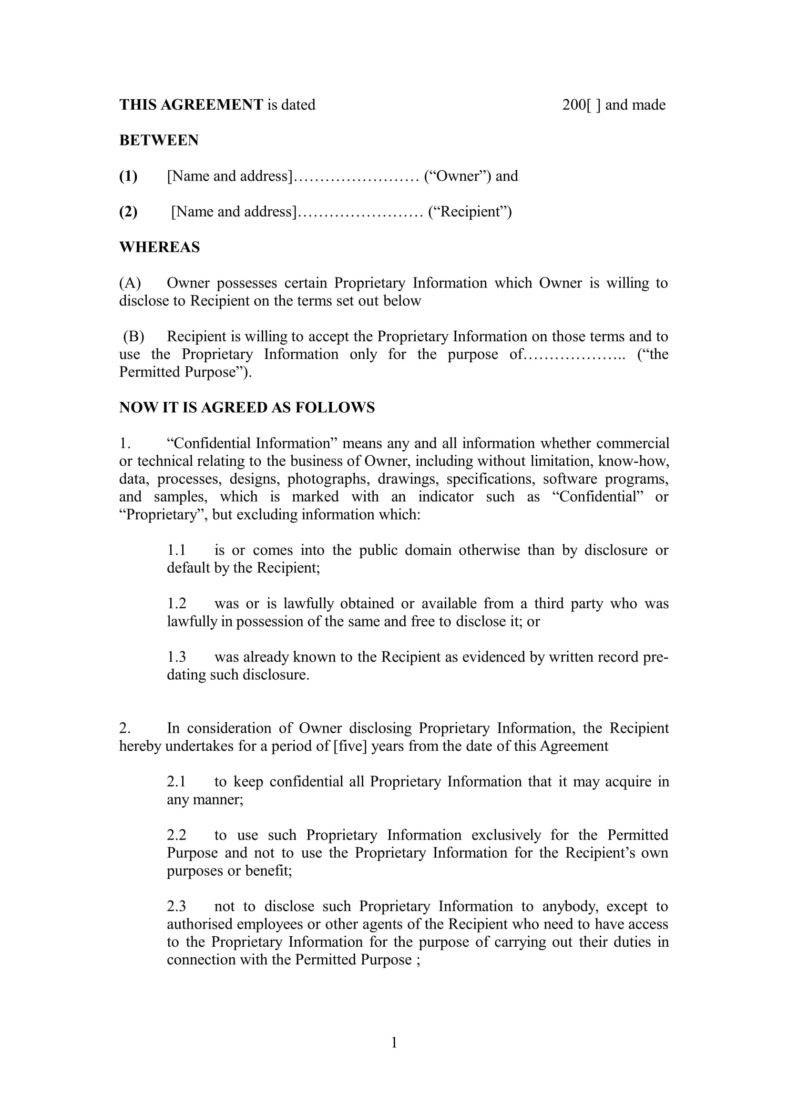 Nondisclosure Agreement Keeping The Company's Trade Secret With Accountant Confidentiality Agreement Template