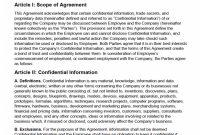 Nondisclosure Agreement Nda Template – Sample inside Unilateral Non Disclosure Agreement Template