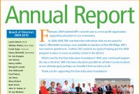 Nonprofit Annual Report Template Ideas Free Non Profit Of within Nonprofit Annual Report Template