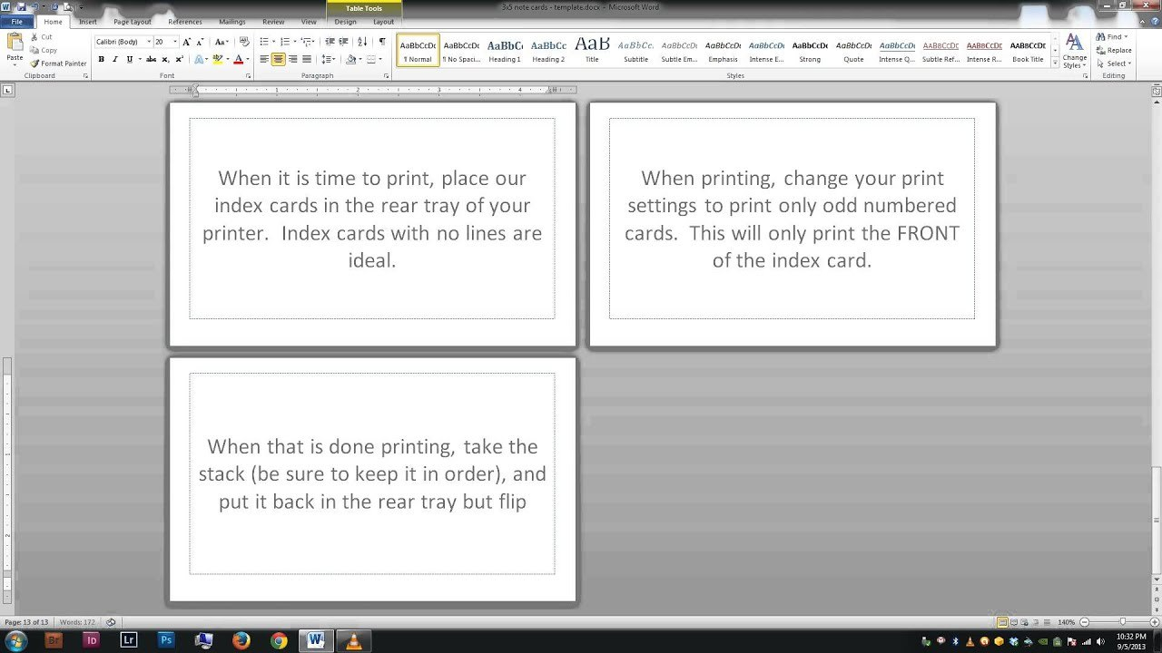 Noteindex Cards  Word Template  Youtube Throughout Cue Card Template Word