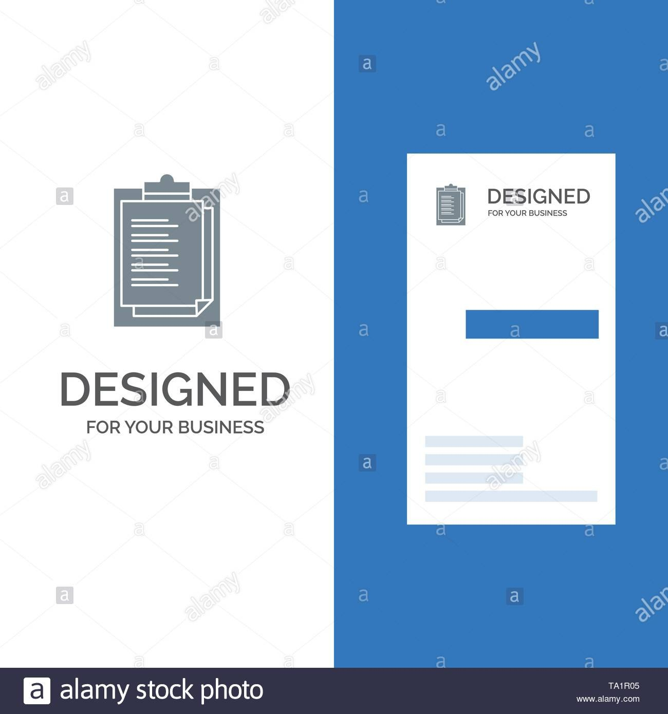 Notepad Report Card Result Presentation Grey Logo Design And Pertaining To Result Card Template