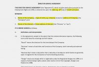Now Is The Time For You To Know The Truth  Form Information in Directors Service Agreement Template