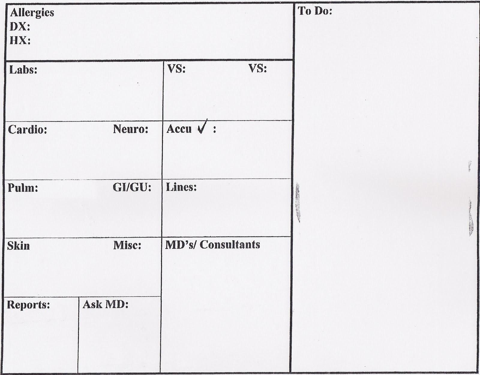 Nurse Flow Sheet Template  Pictimilitude With Nursing Assistant Report Sheet Templates
