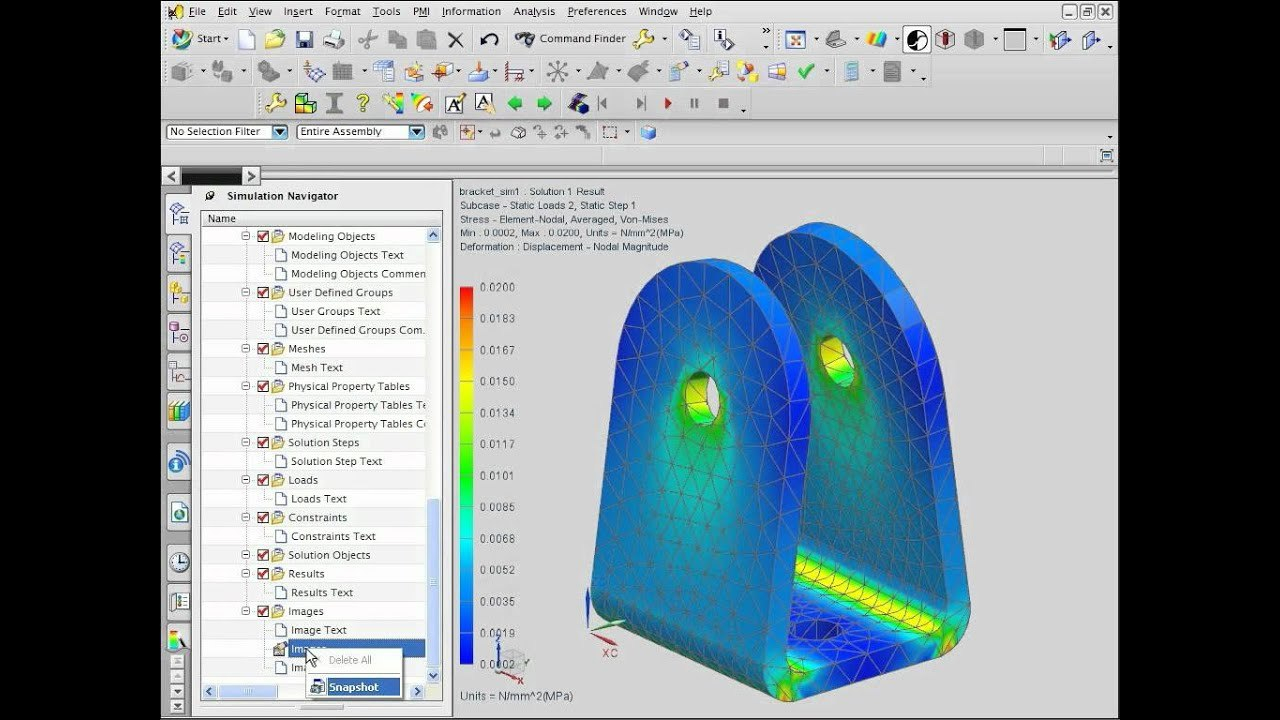 Nx Cae Fea Workflow  Report  Youtube Pertaining To Fea Report Template