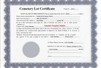 Obtaining A Customized Deed Report Rights To Burial Certificate regarding Ownership Certificate Template