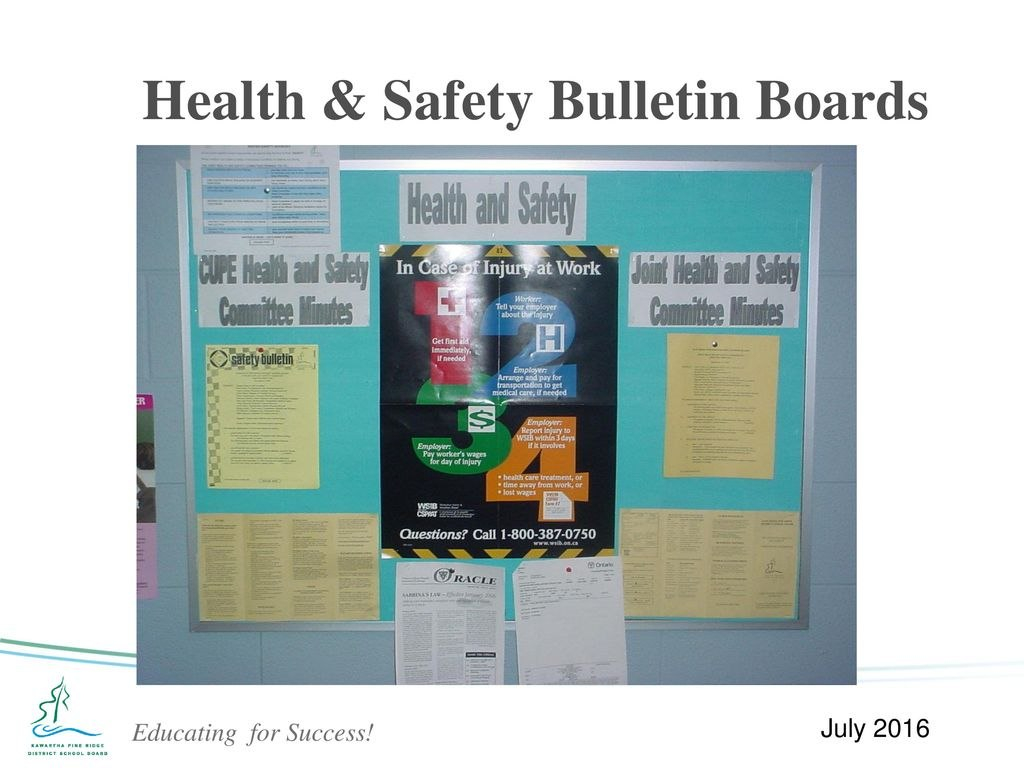 Occupational Health And Safety Workplace Site Inspection Training For Health And Safety Board Report Template
