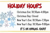 Office Closed For Holiday Sign Fresh Business Closed Sign Template regarding Business Closed Sign Template