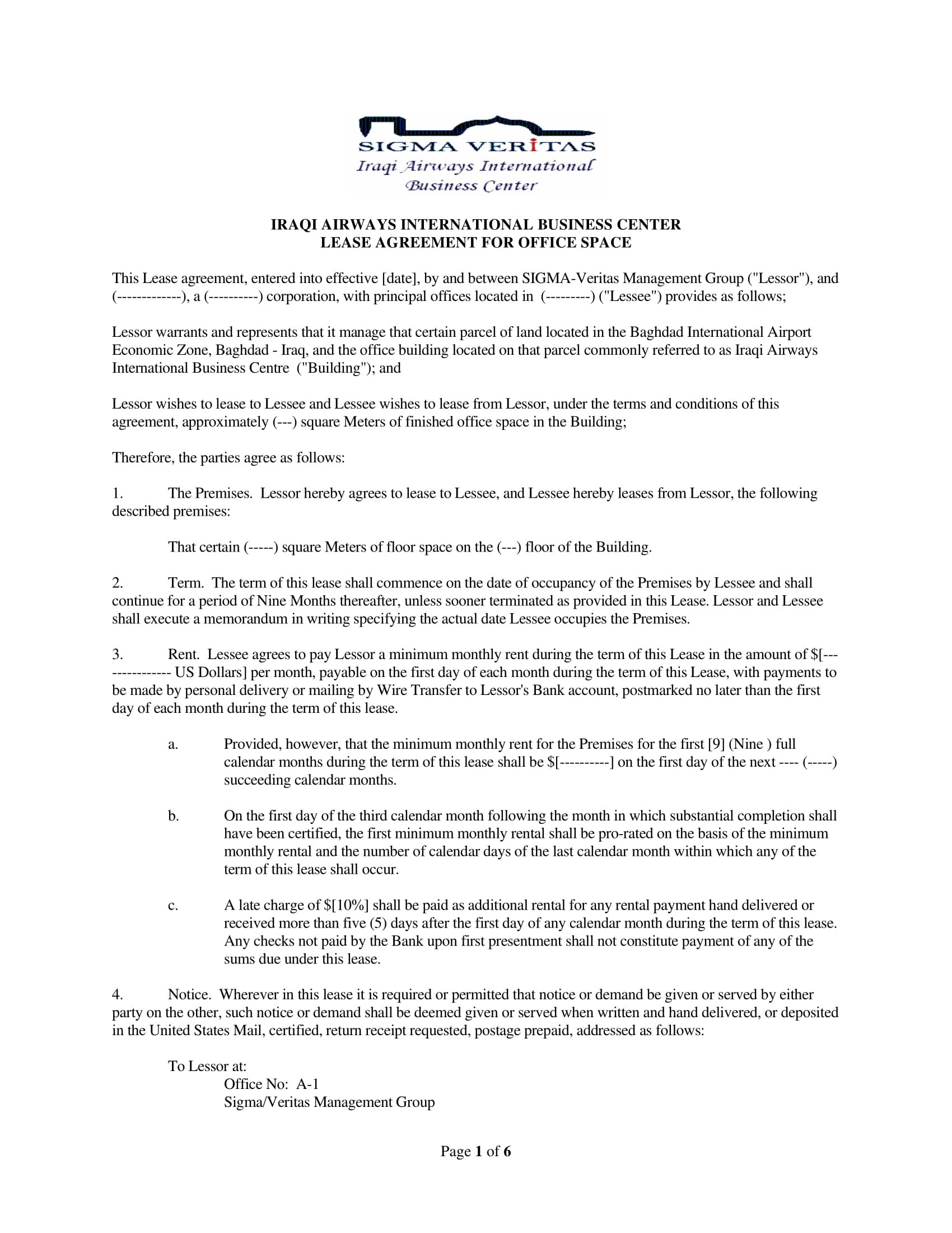 Office Lease Agreement Contract Forms  Pdf Throughout Building Rental Agreement Template