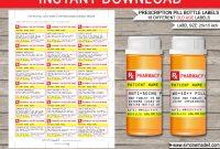 Old Age Prescription Pill Bottle Labels  Gag Gift  Fake Pharmacy Label within Prescription Bottle Label Template