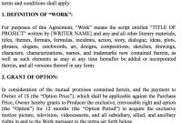 One Dollar Option Agreement Writerproducer  Haraldhouse regarding Screenplay Option Agreement Template