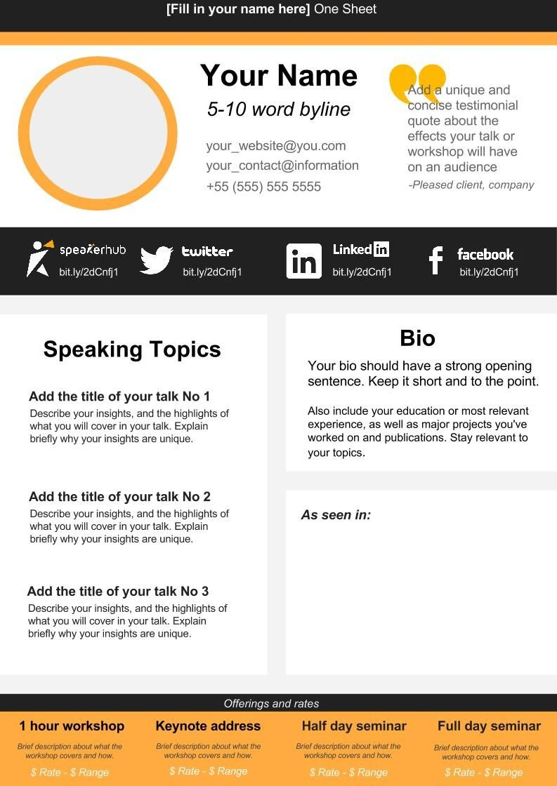 One Sheet Creator  Business  Templates Media Kit Simple Web Design Pertaining To Business One Sheet Template
