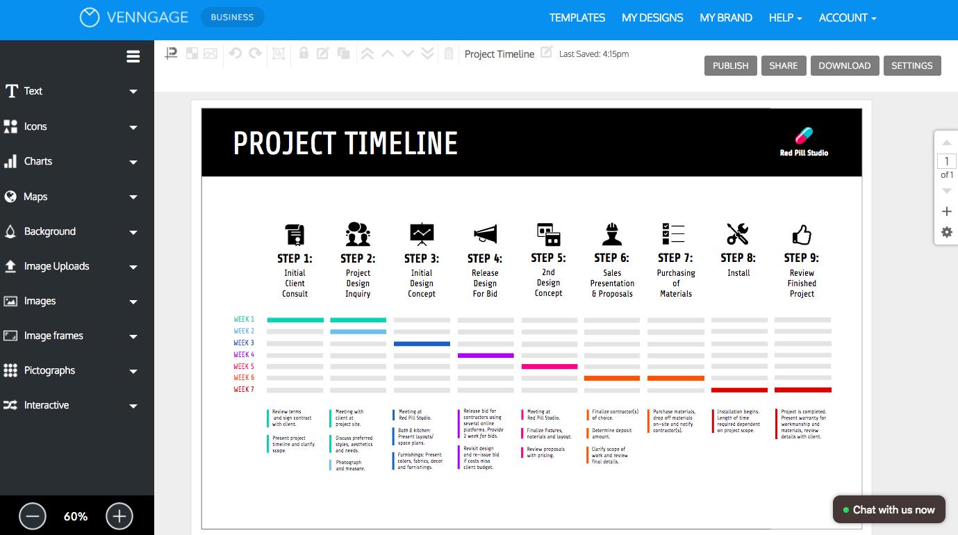 Online Roadmap Maker  Create A Roadmap Template  Venngage In Blank Road Map Template