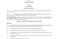 Ontario Unanimous Shareholders Agreement Between Shareholders And for Minority Shareholder Agreement Template