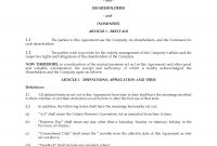 Ontario Unanimous Shareholders Agreement Between Shareholders And for Shareholders Agreement Template For Small Business