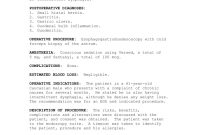 Operative Report intended for Operative Report Template