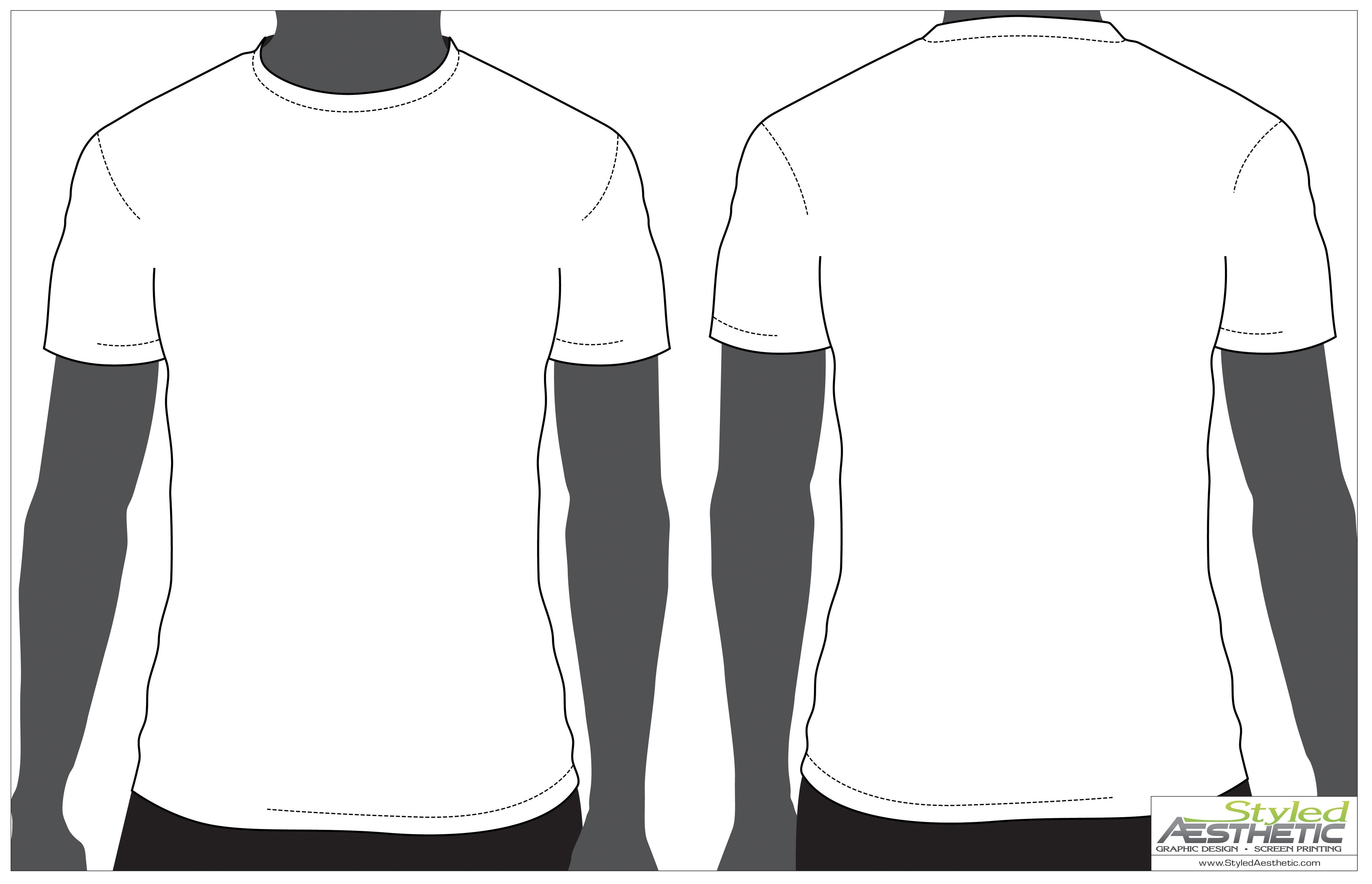 Outline Of A T Shirt Template  Free Download Best Outline Of A T Within Blank Tshirt Template Pdf