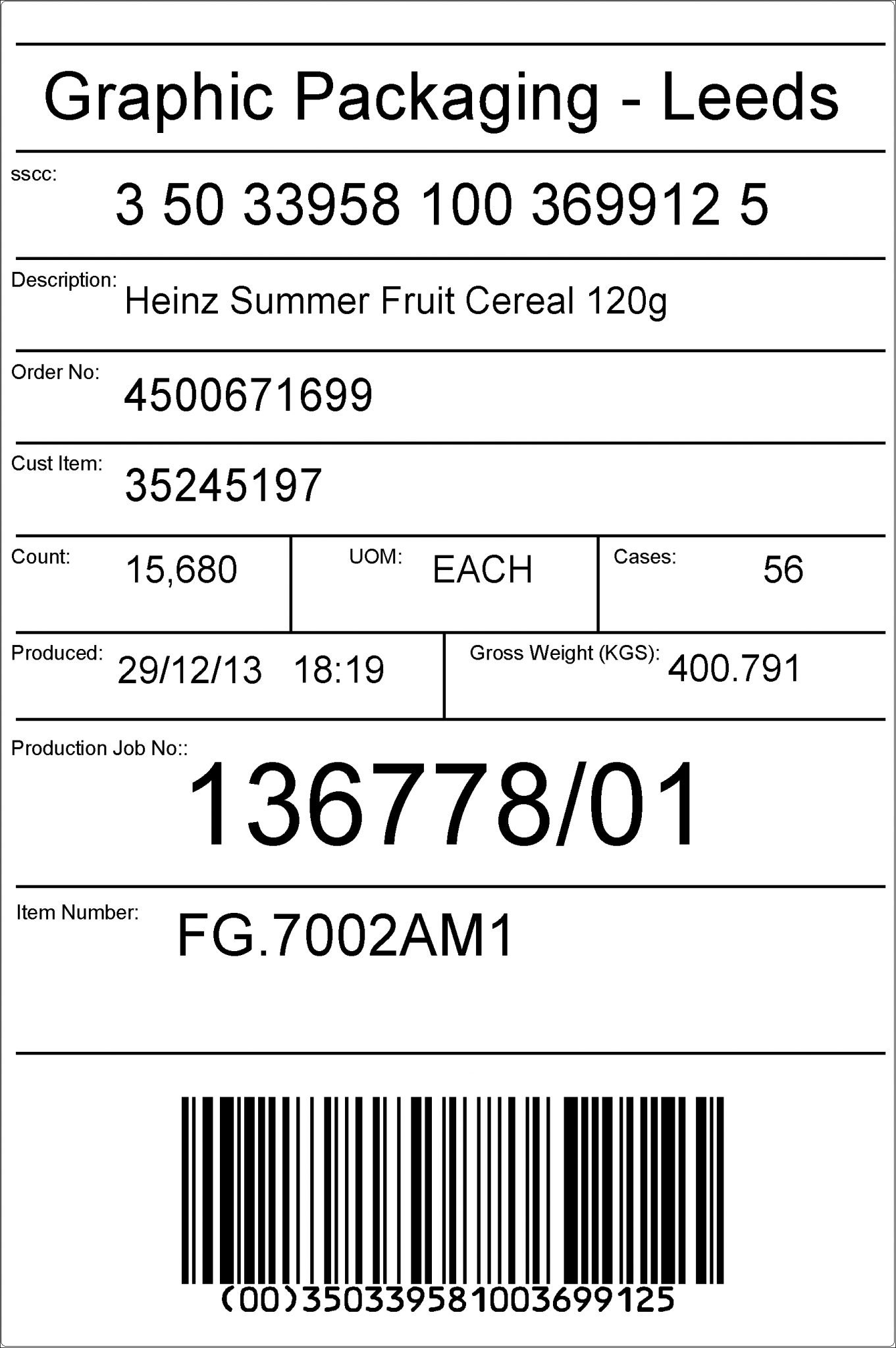 Pallet Labeller Gs Compliant  Advanced Labelling Systems Ltd For Pallet Label Template