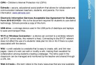 Parent  Student Guide  Pdf within Public Wifi Acceptable Use Policy Template
