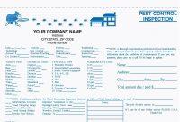Part Pest Control Inspection Form Carbonless Free Shipping with Pest Control Inspection Report Template