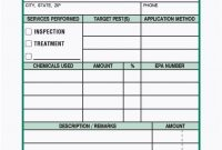 Part Pest Control Service Report Book in Pest Control Inspection Report Template