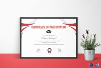 Participation Certificate For Running Template In Psd Word within Running Certificates Templates Free