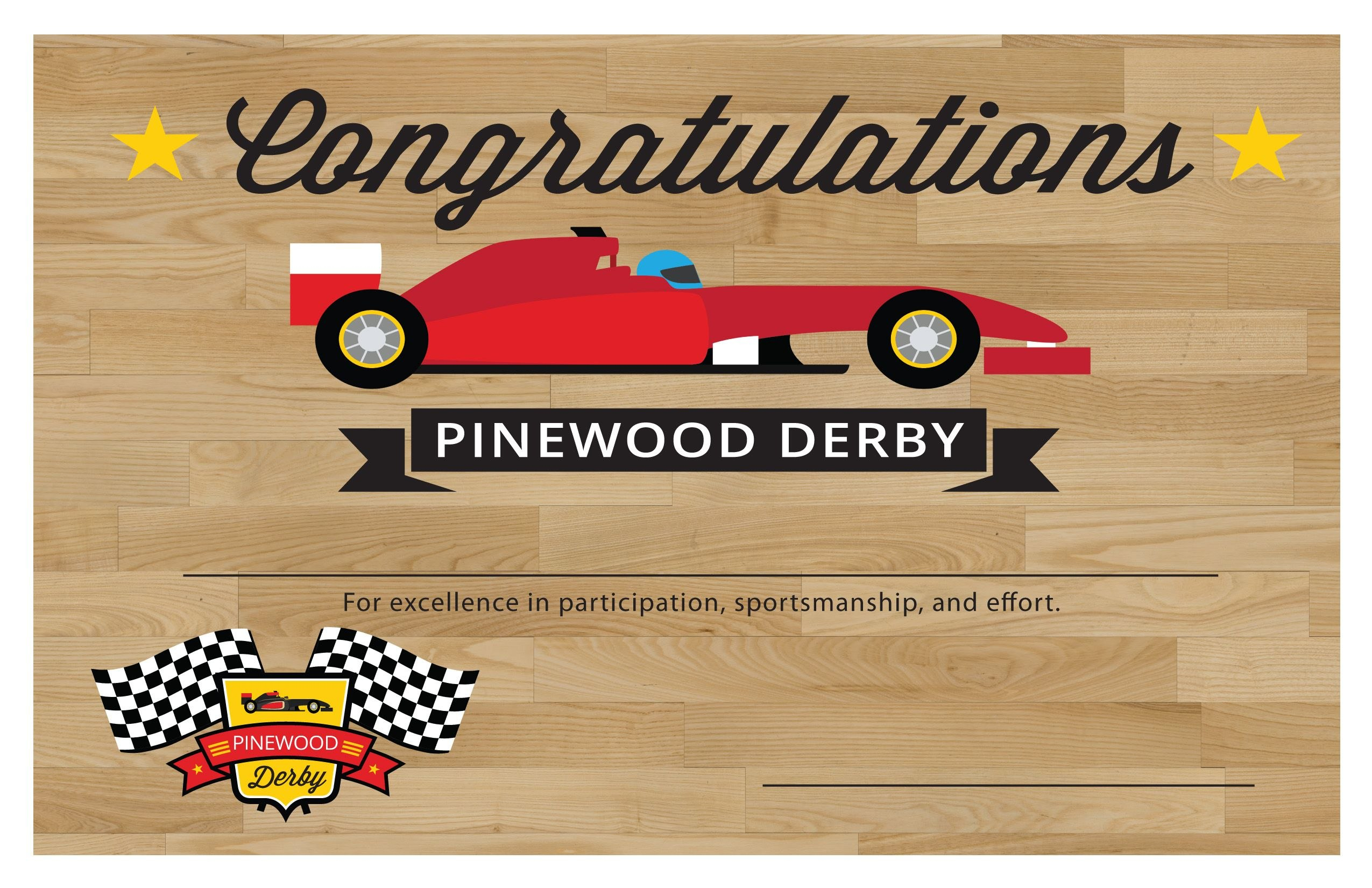 Participation Certificate  Pinewood Derby  Pinewood Derby Within Pinewood Derby Certificate Template