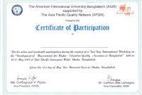 Participation Certificate Template Word  Certificatetemplateword in Templates For Certificates Of Participation