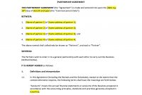 Partnership Agreement Template – Uk Template Agreements And Sample in Profit Participation Loan Agreement Template
