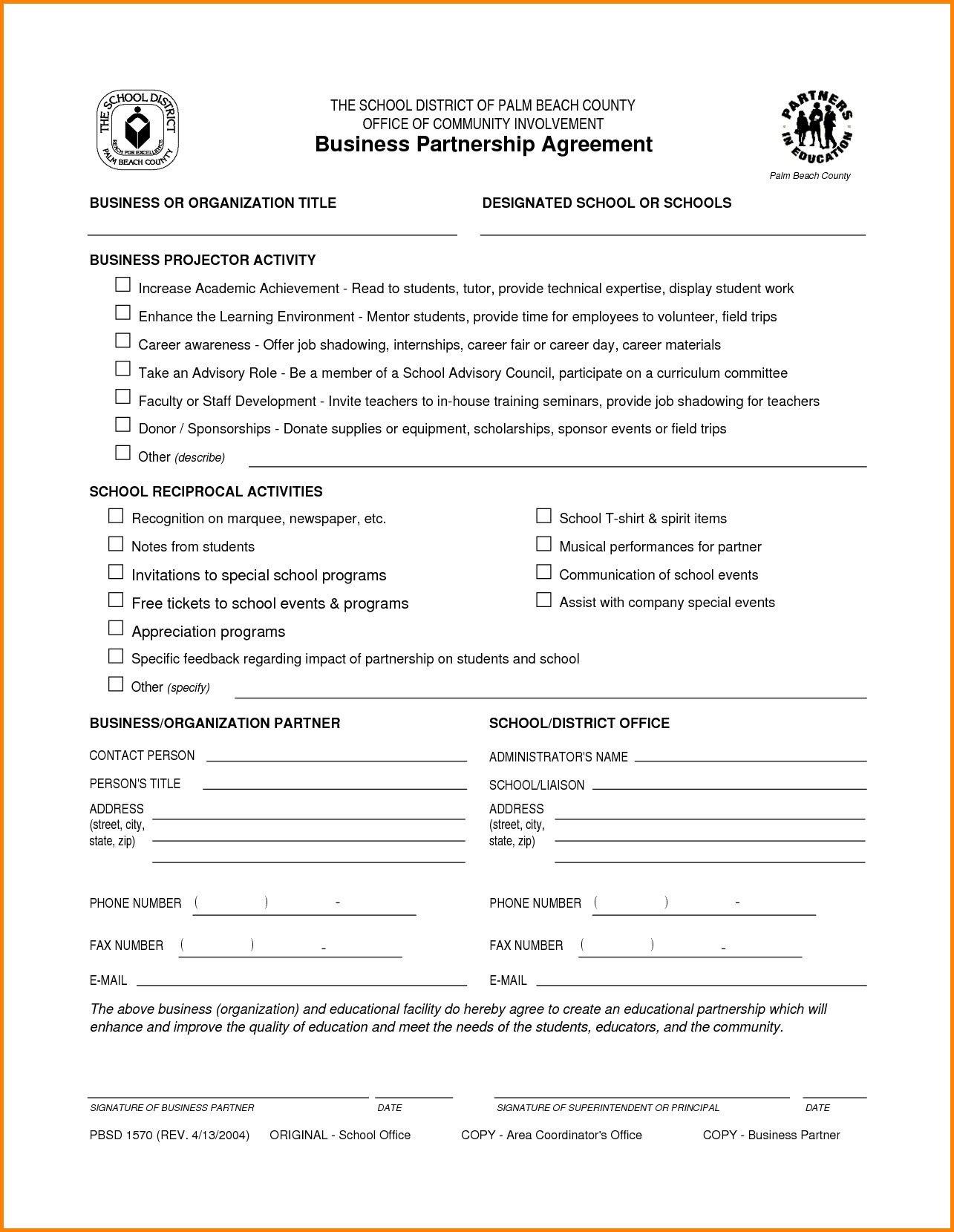 Partnership Contract Sample Pdf  Lera Mera Intended For Business Partnership Agreement Template Pdf