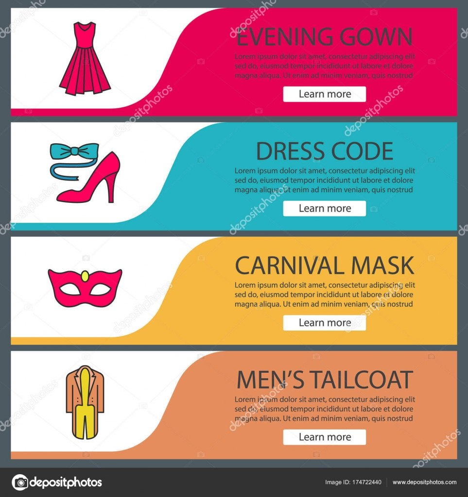 Party Accessories Banner Templates — Stock Vector © Bsd Inside Tie Banner Template