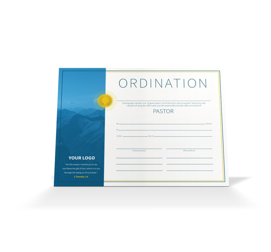 Pastor Ordination Certificate  Vineyard Digital Membership Intended For Certificate Of Ordination Template