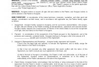 Patent Assignment Agreement Sample  Templates At within Invention Assignment Agreement Template